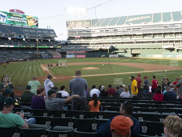 Oakland-Alameda County Coliseum Section 115 view