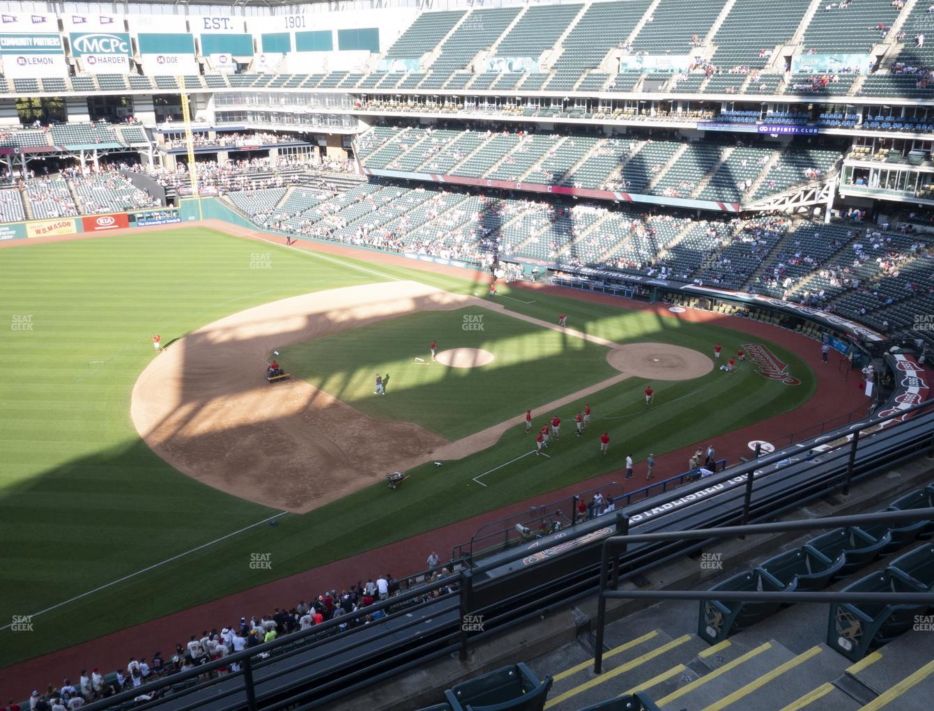 Cleveland Indians at Progressive Field Section 469 View