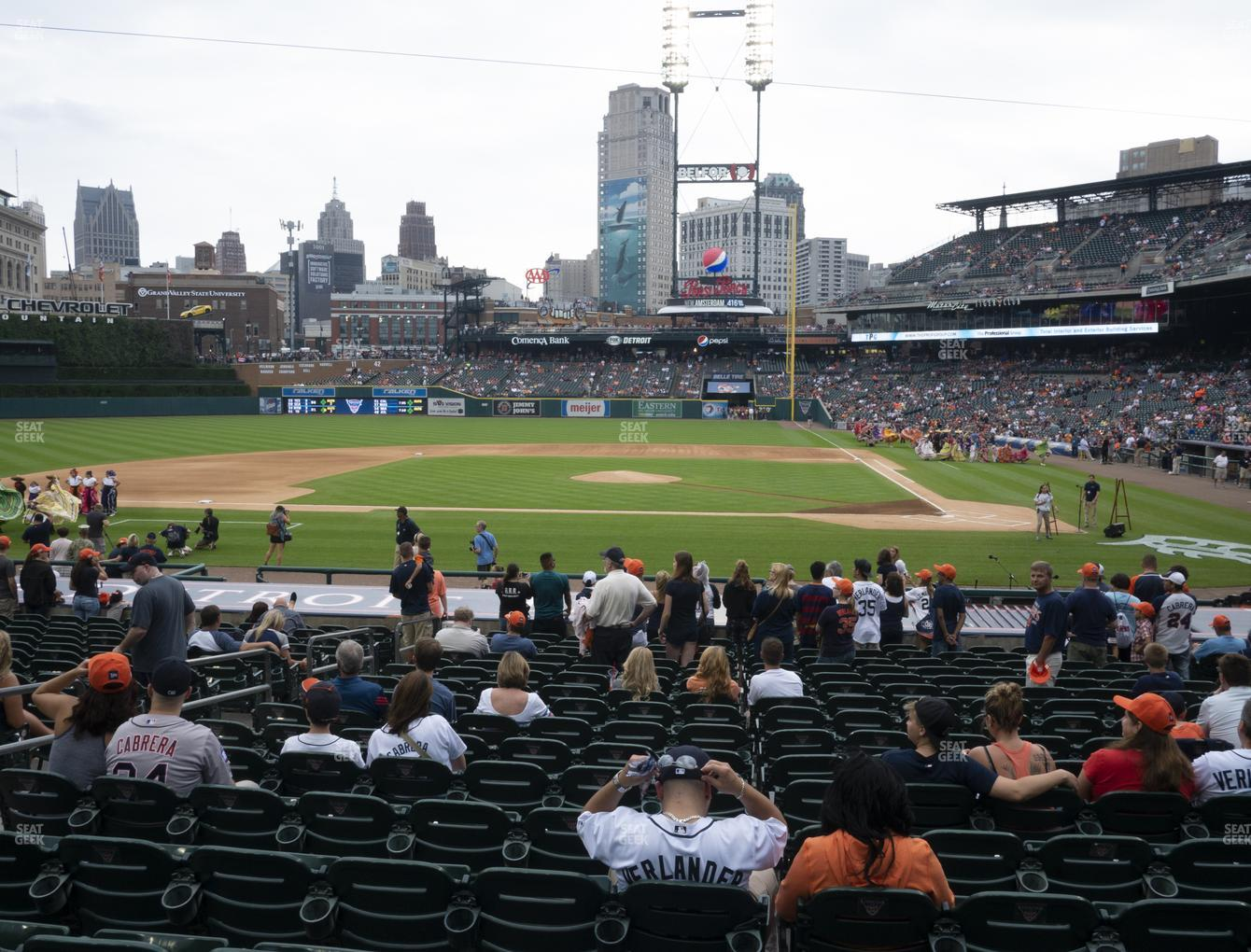 Detroit Tigers at Comerica Park Section 132 View