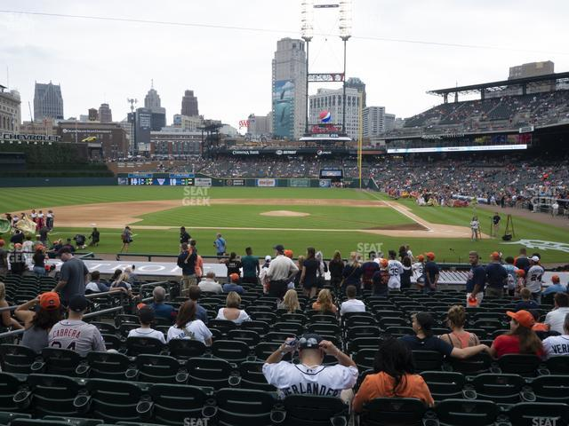 Comerica Park Section 132 view