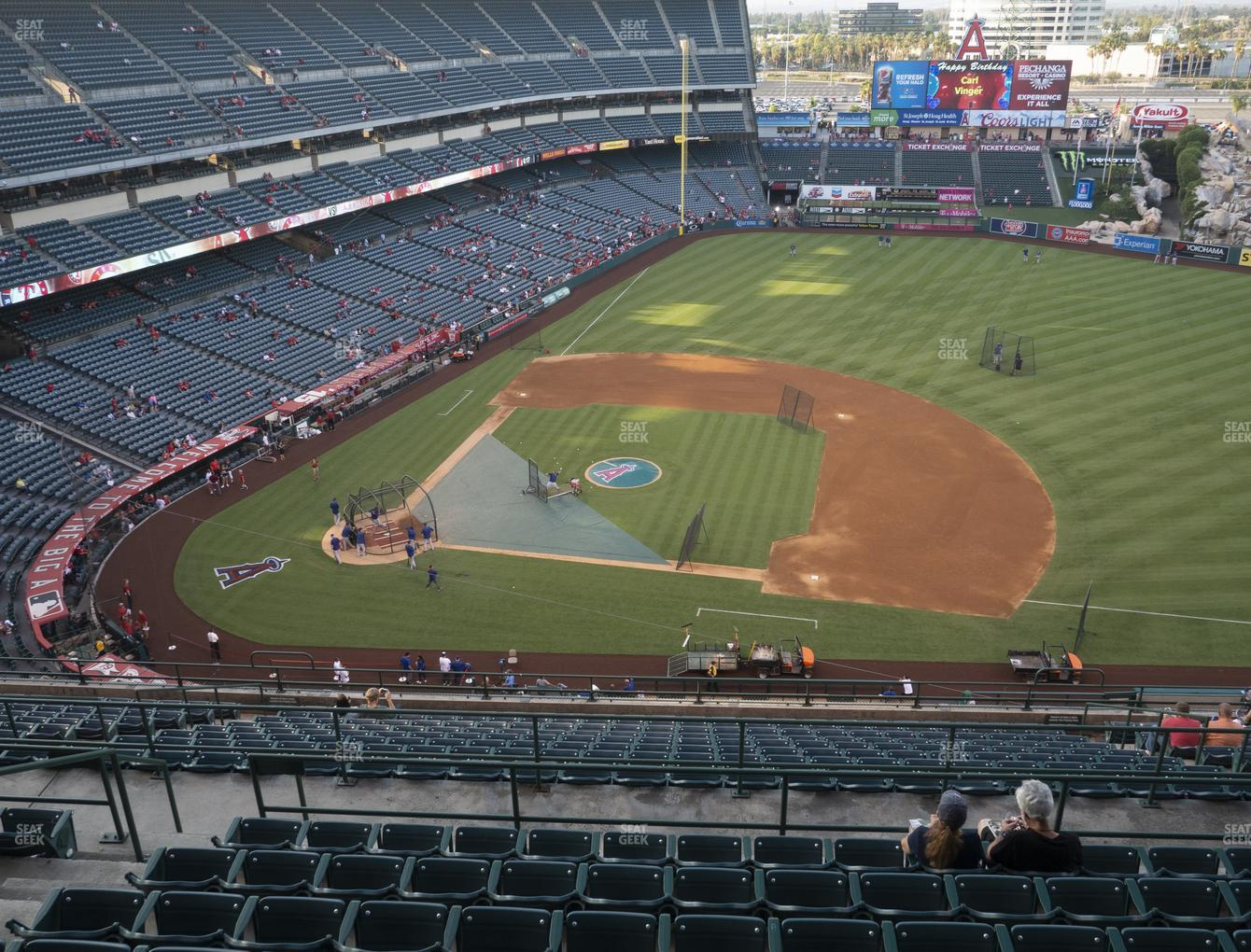 Los Angeles Angels at Angel Stadium of Anaheim Section 528 View