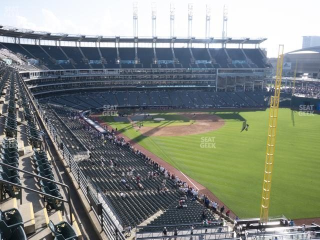 Progressive Field Section 419 view