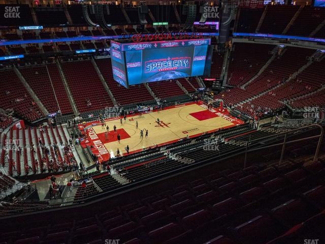 Toyota Center Section 412 view