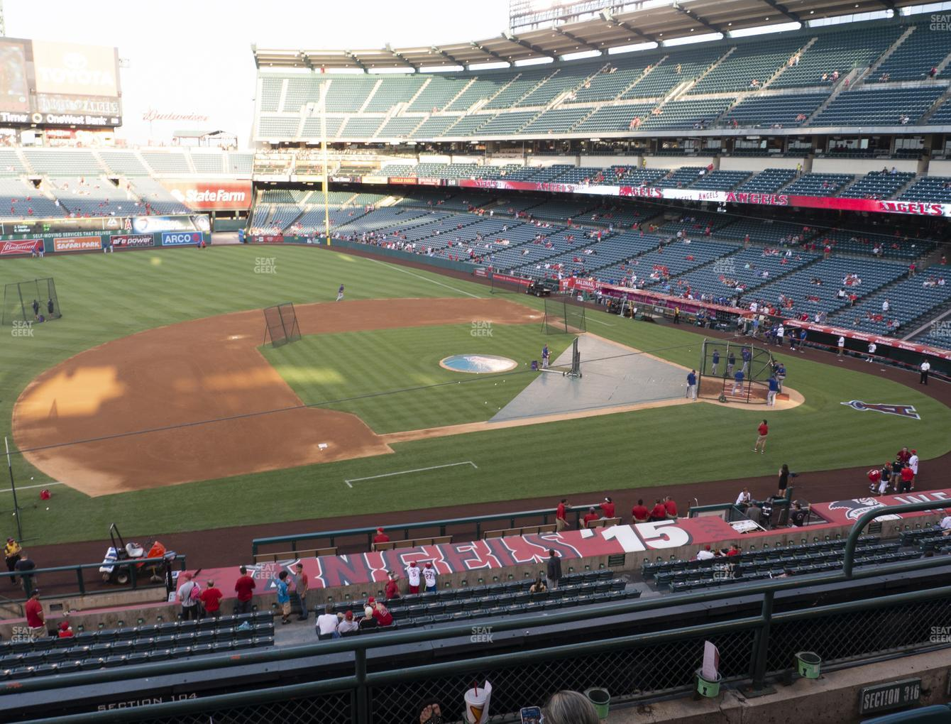 Los Angeles Angels at Angel Stadium of Anaheim Section 316 View