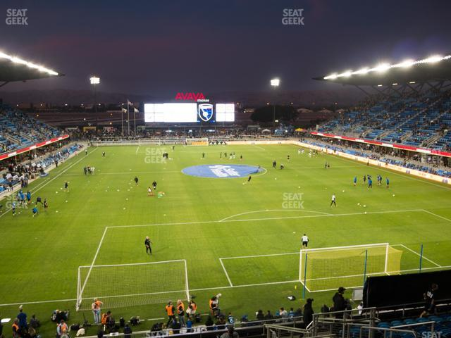 Earthquakes Stadium Section 116 view