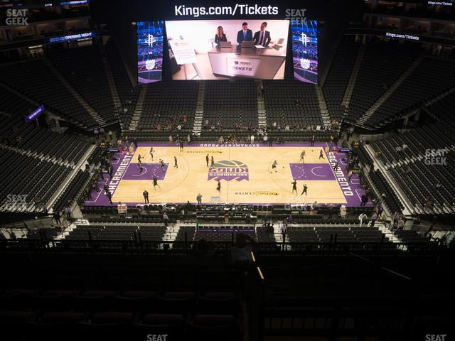 Golden 1 Center Section 205 view