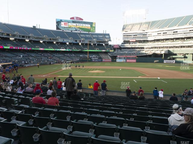 Oakland-Alameda County Coliseum Section 113 view