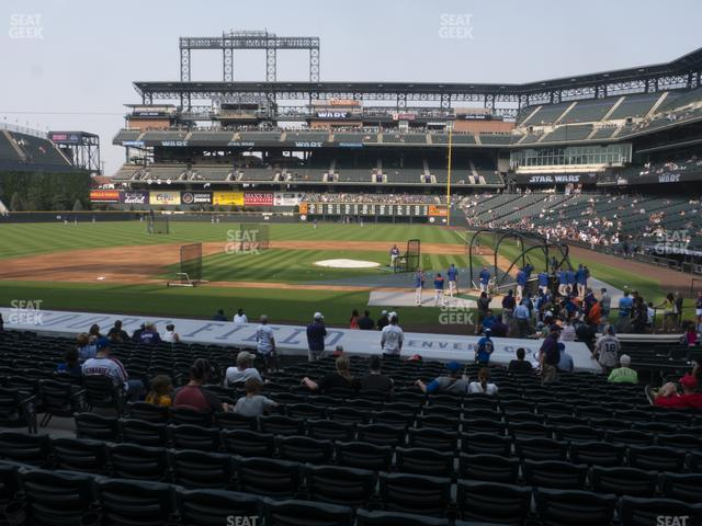 Coors Field Section 136 view