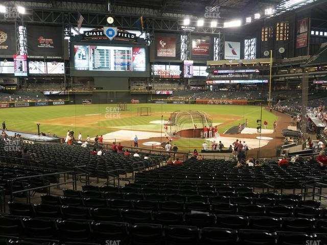 Chase Field Section 124 view