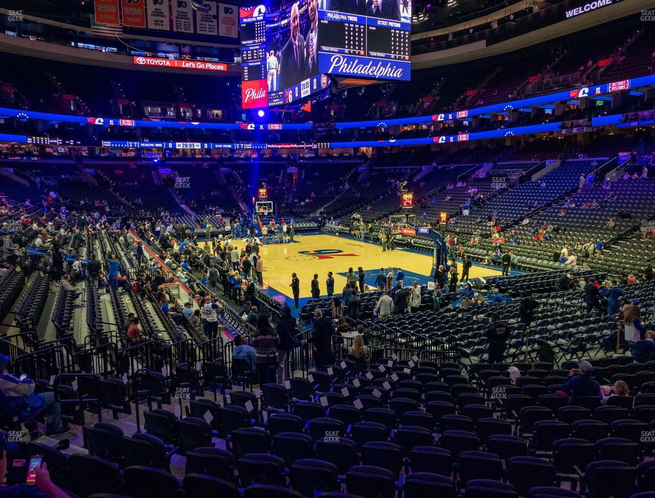 Wells Fargo Center Section 105 Seat Views Seatgeek