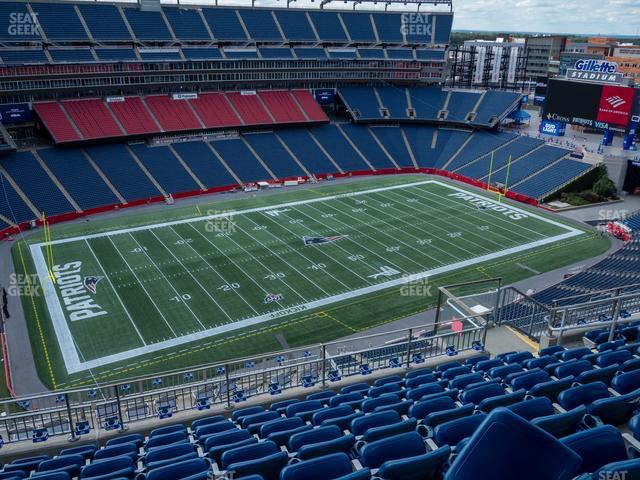 Gillette Stadium Section 314 view
