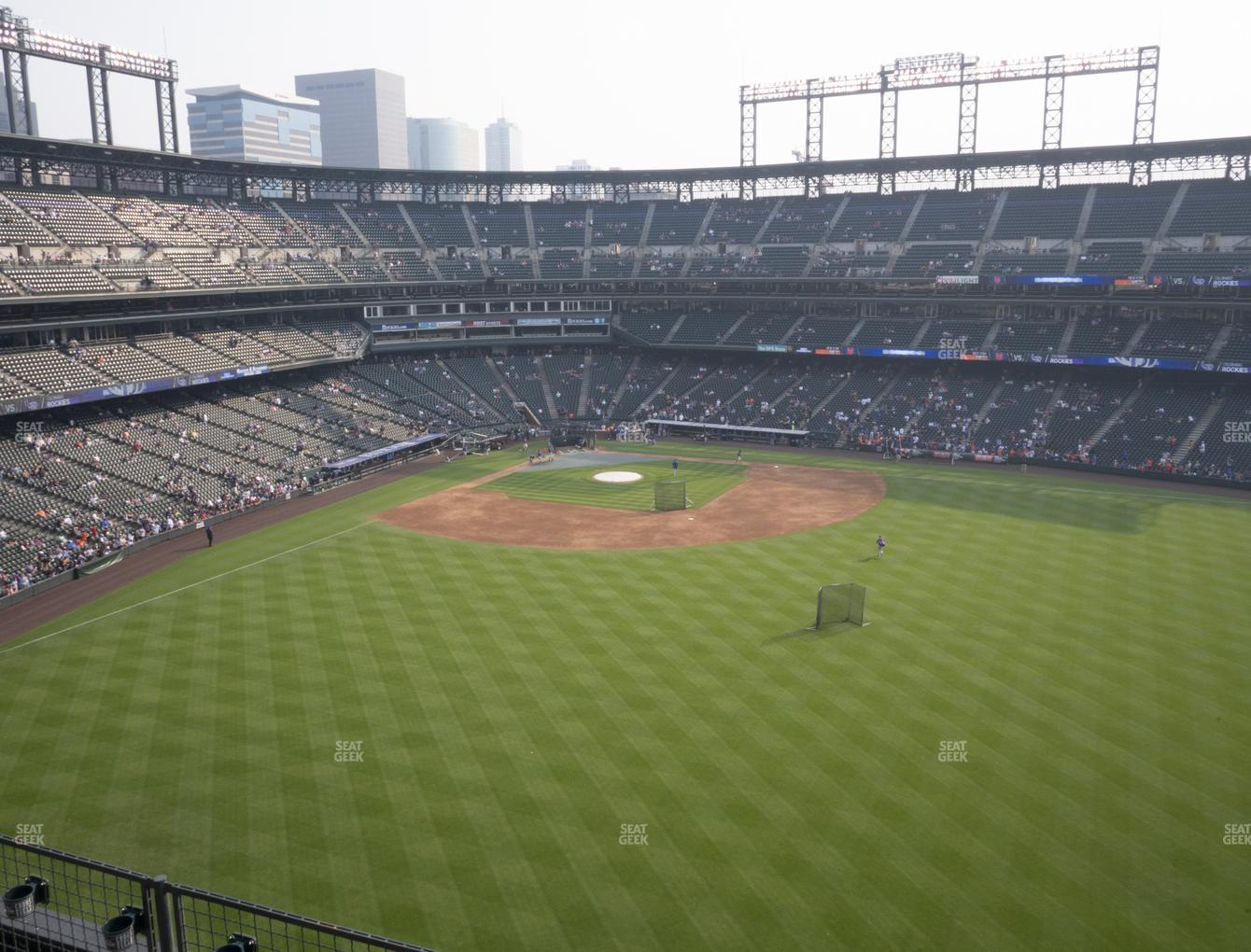 Colorado Rockies at Coors Field Lower 303 View