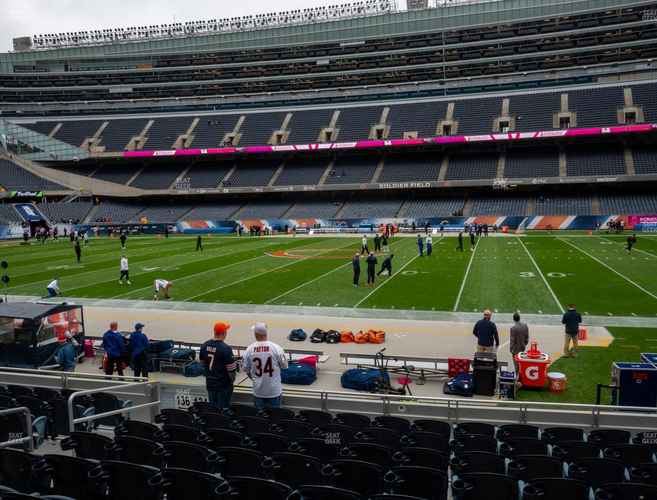Chicago Bears at Soldier Field Section 134 View