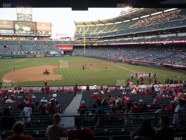 Angel Stadium of Anaheim Section 211 view
