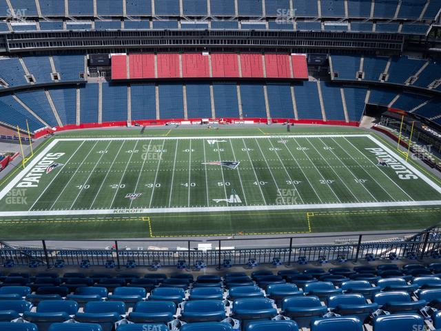 Gillette Stadium Section 332 view