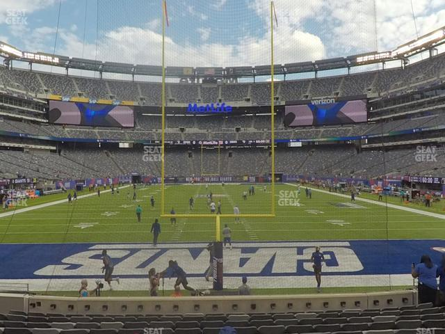 MetLife Stadium Section 101 view