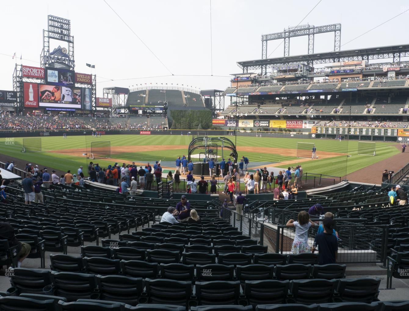 Colorado Rockies at Coors Field Section 131 View
