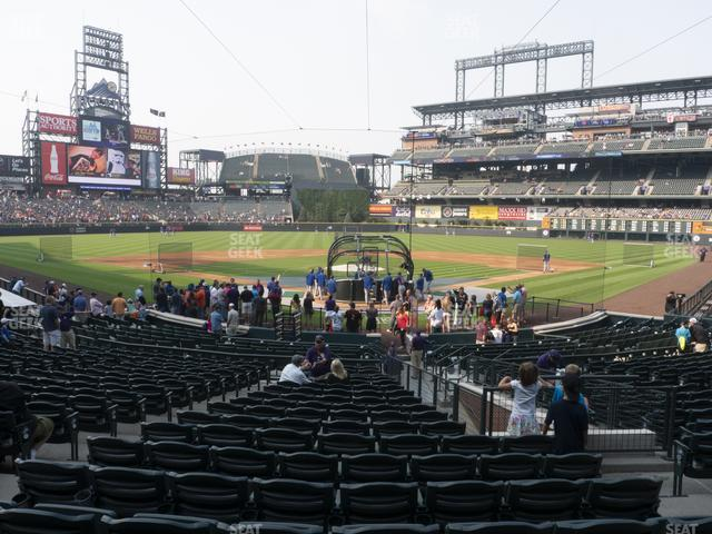 Coors Field Section 131 view