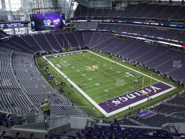 U.S. Bank Stadium Section 332 view