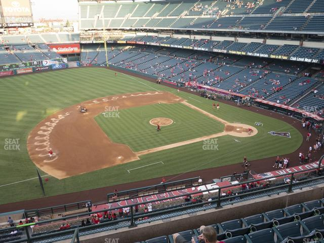 Angel Stadium of Anaheim Section 411 view