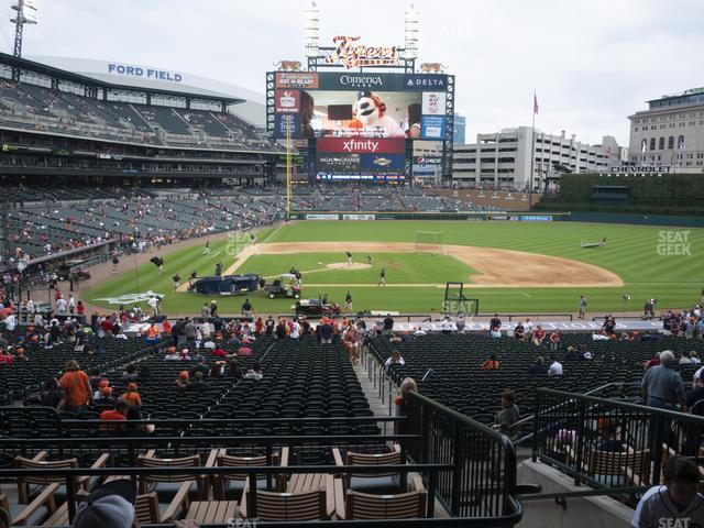 Comerica Park Section 123 view