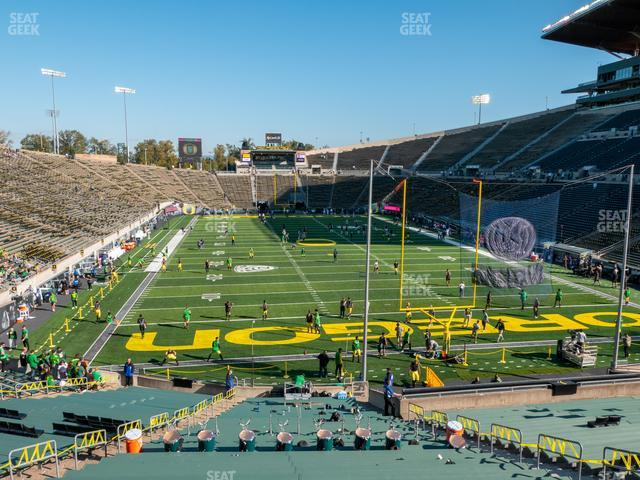 Autzen Stadium Section 2 view