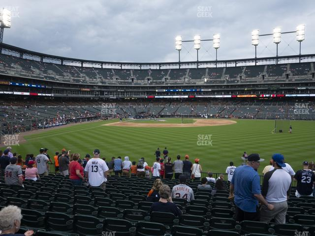Comerica Park Section 104 view