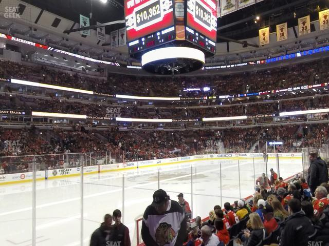 United Center Section 102 view