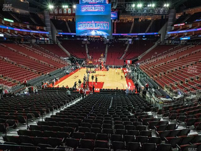 Toyota Center Section 126 view