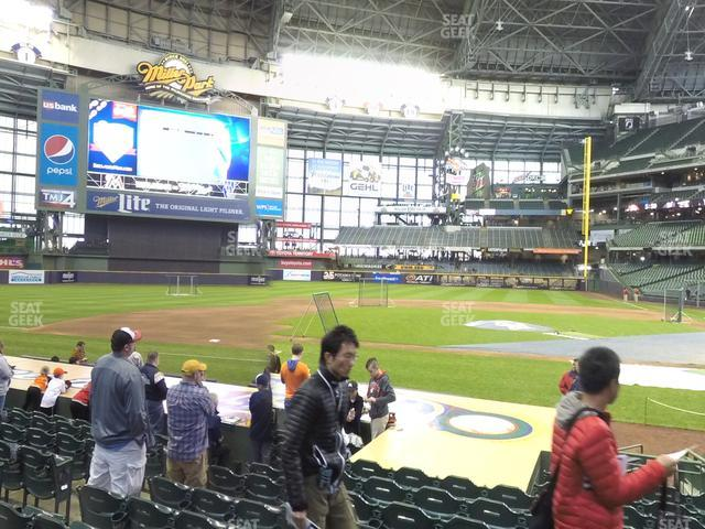 Miller Park Section 121 view