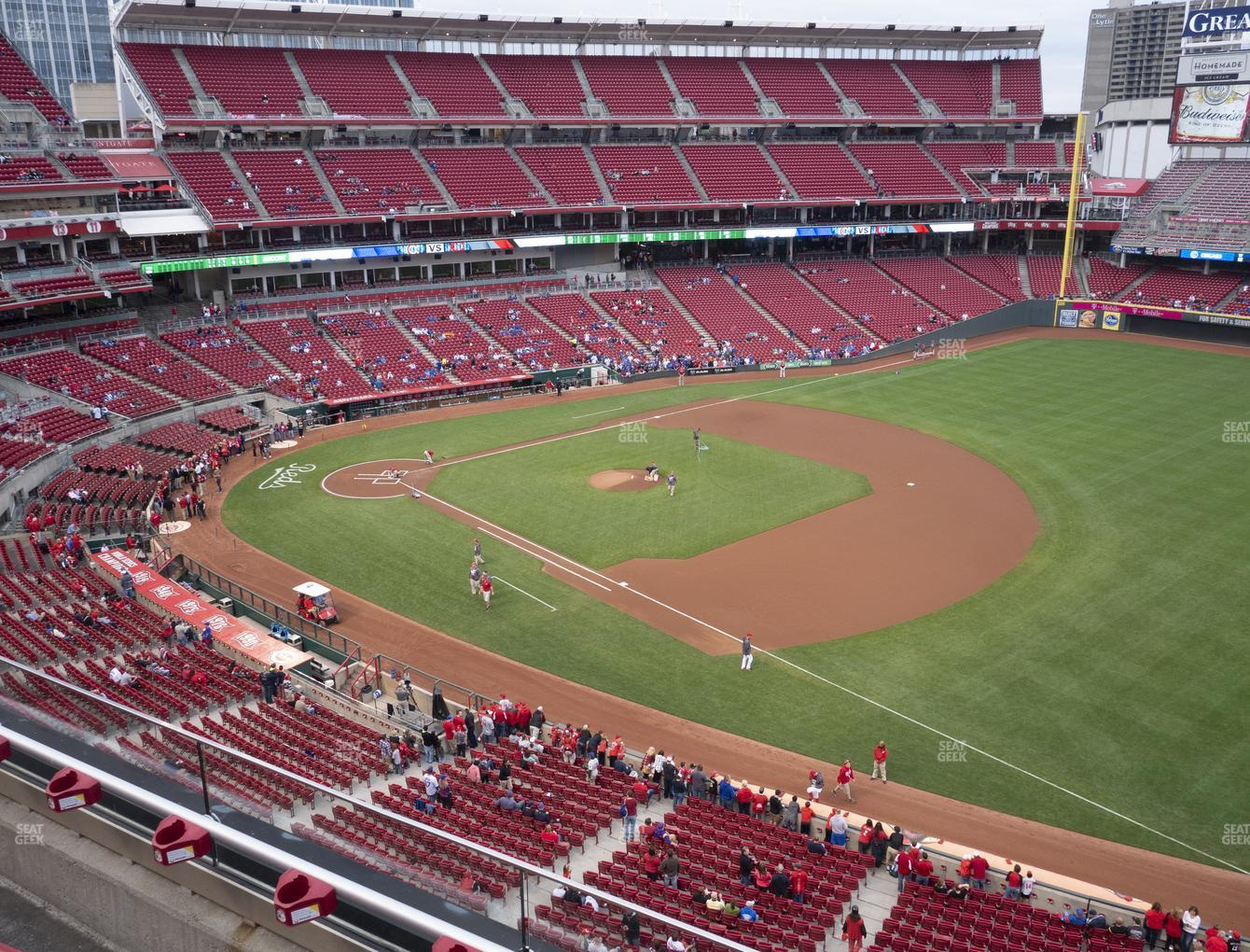 Cincinnati Reds at Great American Ball Park Section 434 View