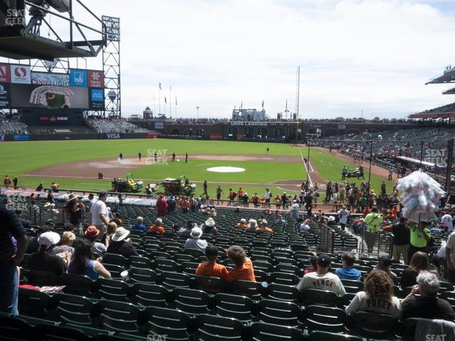 Oracle Park Section 121 view