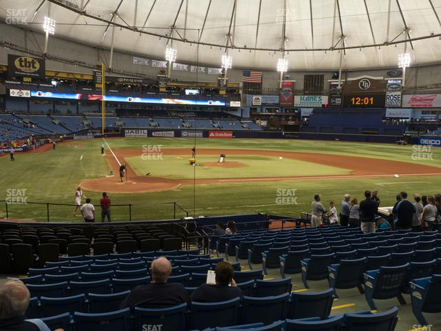 Tropicana Field Section 108 view
