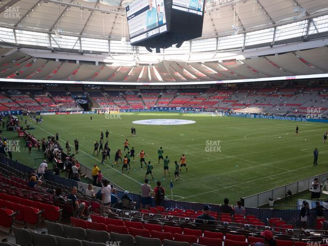BC Place Stadium Section 207 view