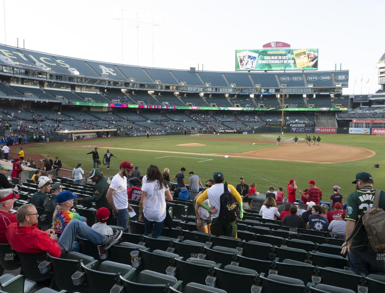 Oakland Athletics at RingCentral Coliseum Section 110 View