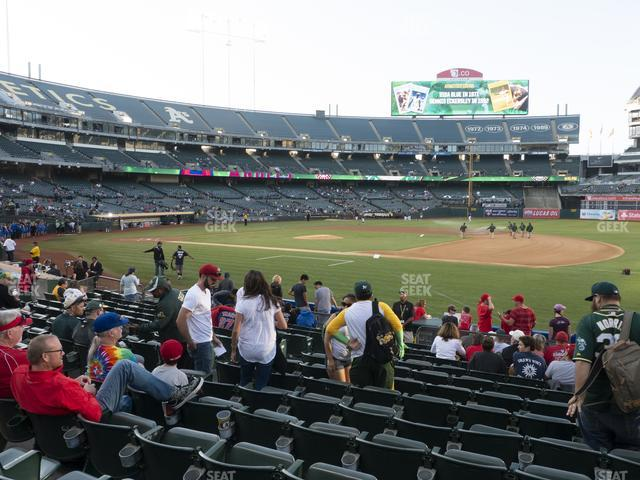 Oakland-Alameda County Coliseum Section 110 view