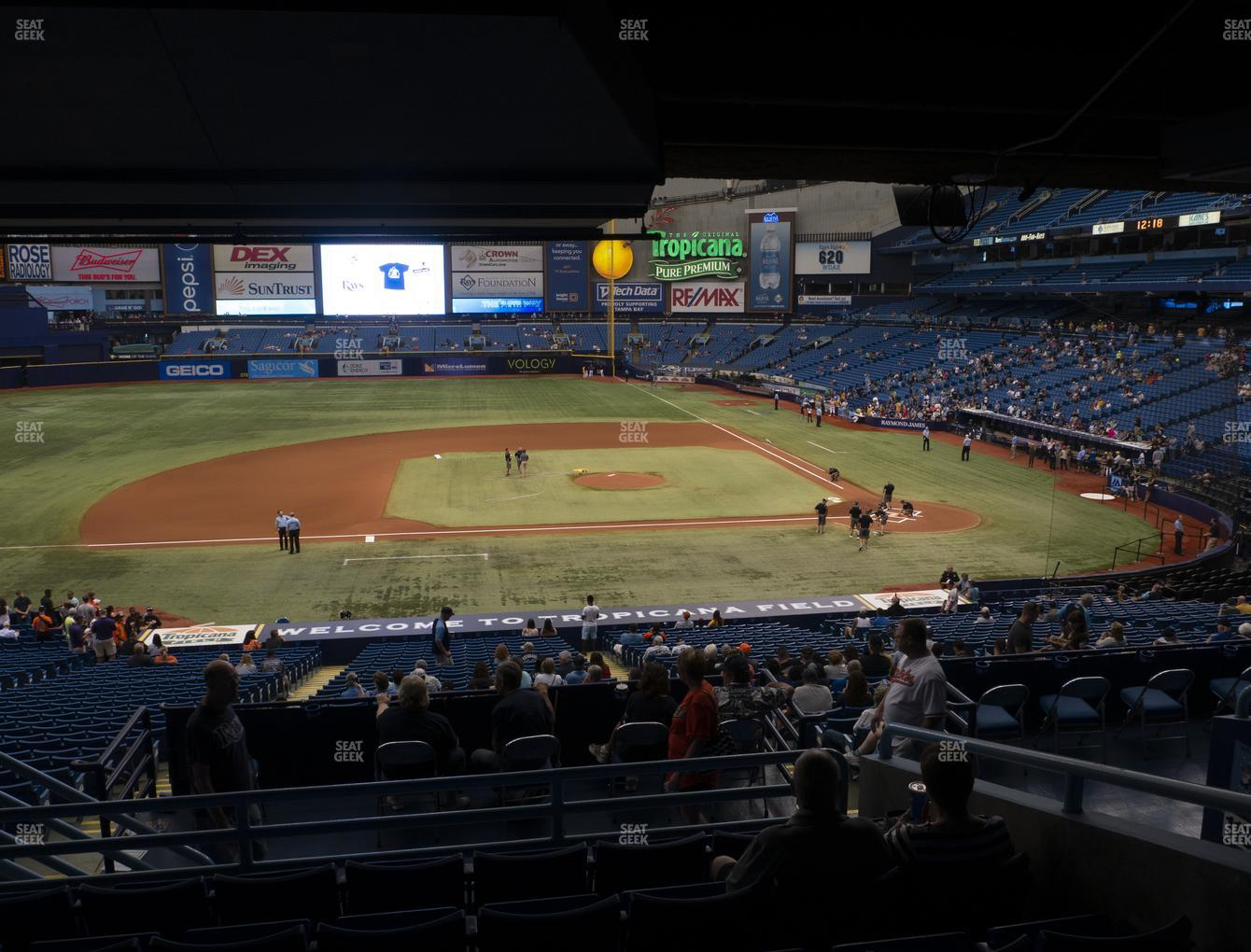 Tampa Bay Rays at Tropicana Field Section 115 View