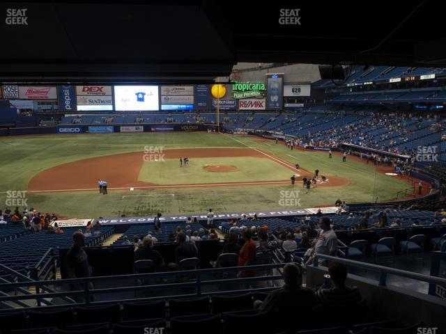 Tropicana Field Section 115 view