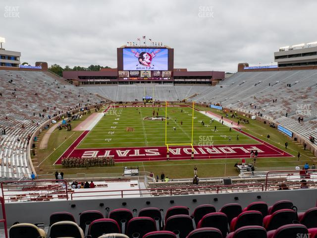 Doak Campbell Stadium Section Club 222 view