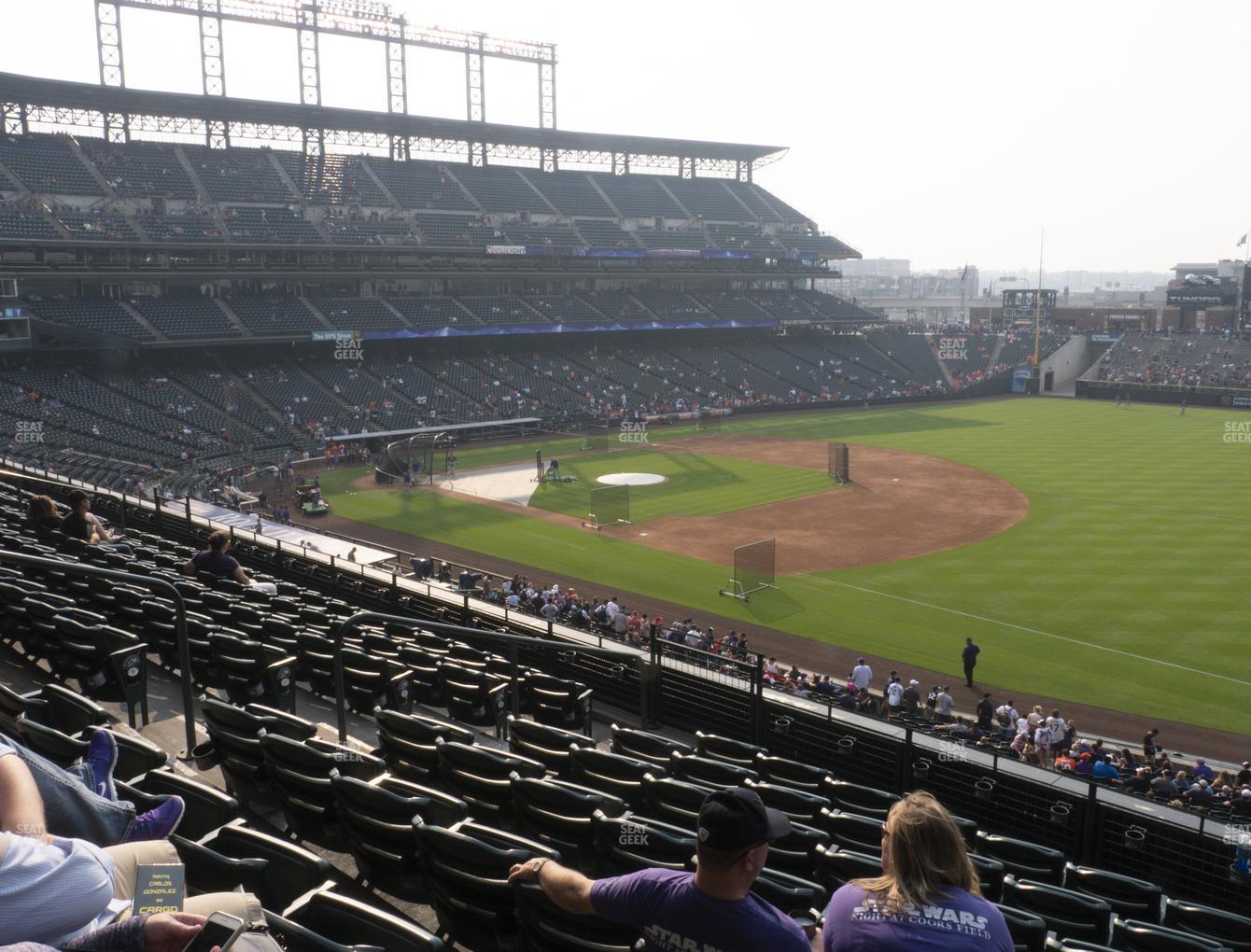 Colorado Rockies at Coors Field Section 217 View