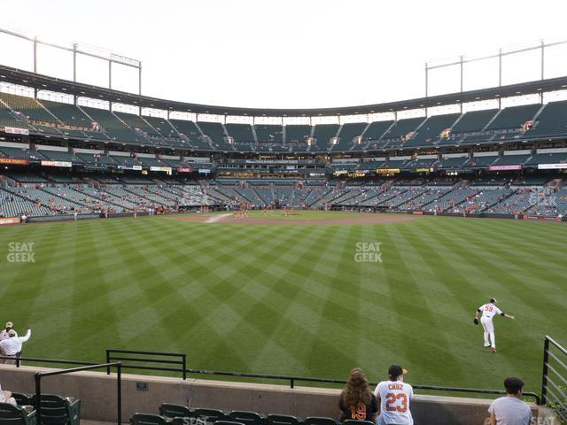 Oriole Park at Camden Yards Section 90 view