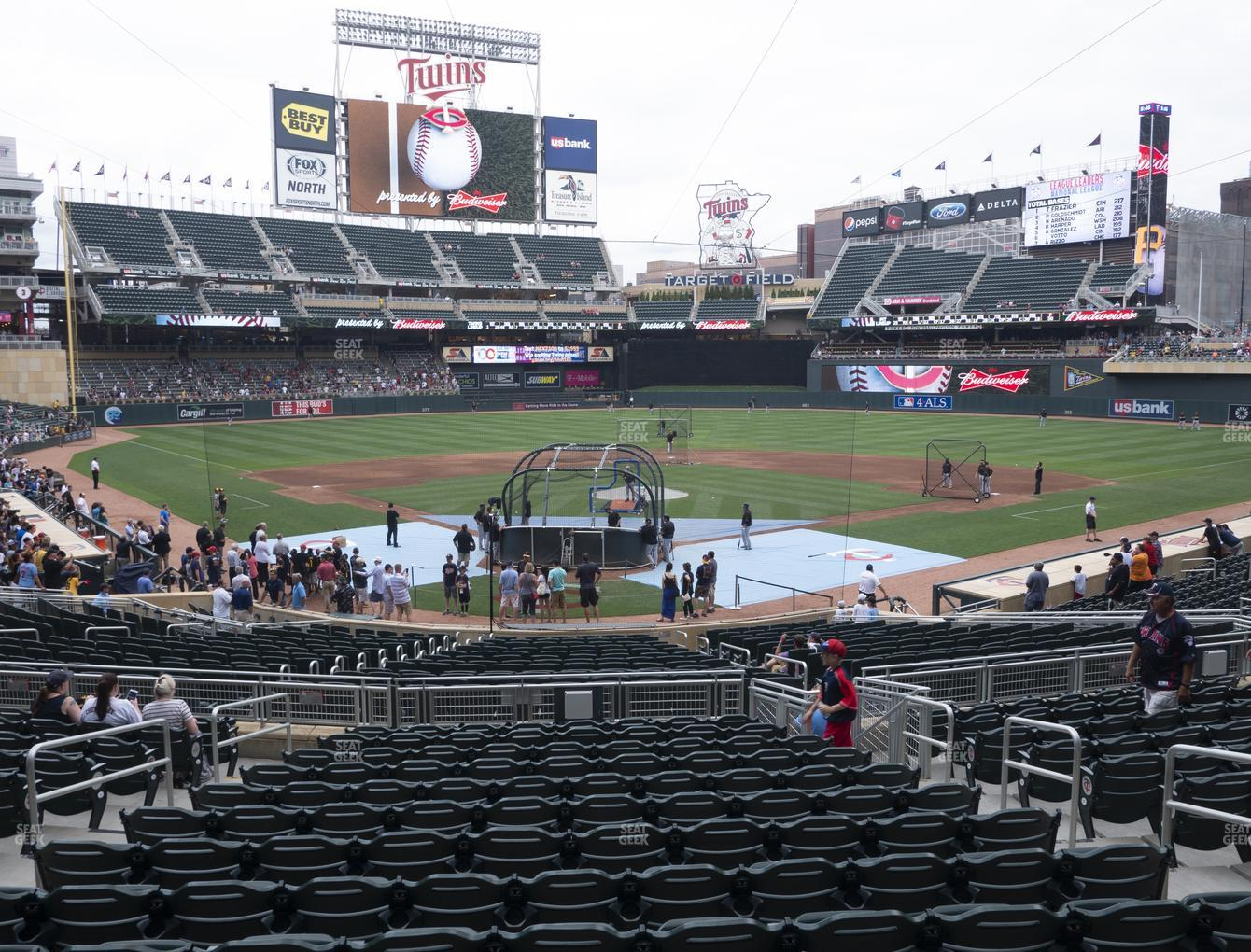 Minnesota Twins at Target Field Section 113 View