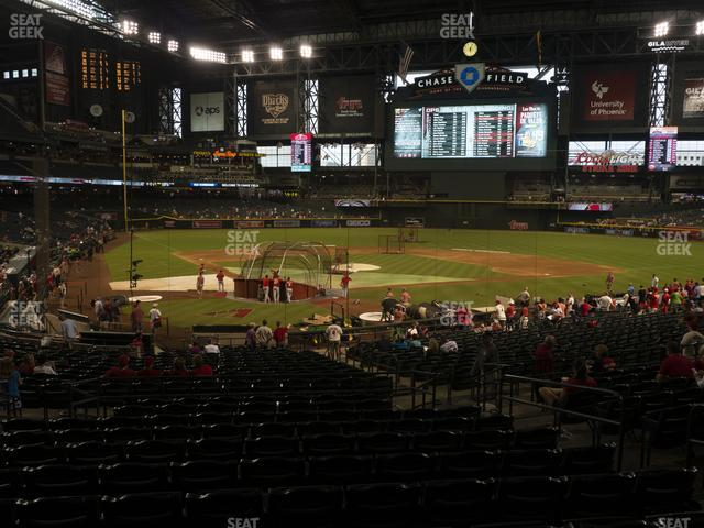 Chase Field Section 121 view