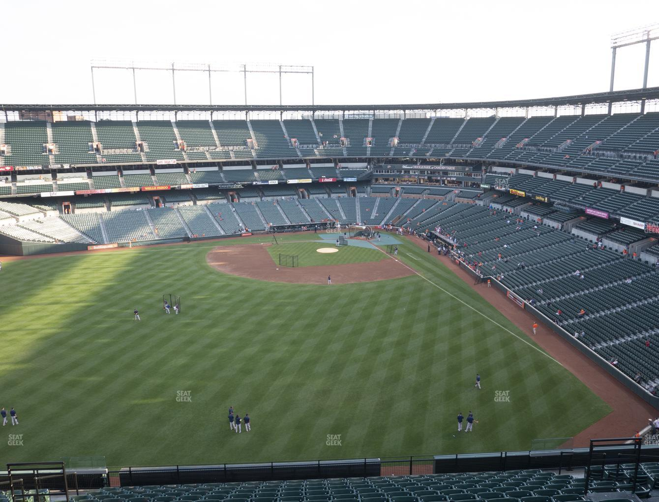 Baltimore Orioles at Oriole Park at Camden Yards Section 386 View