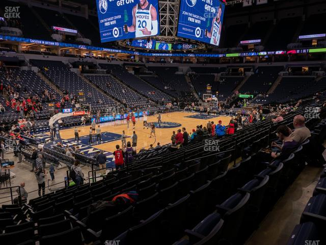 Target Center Section 116 view