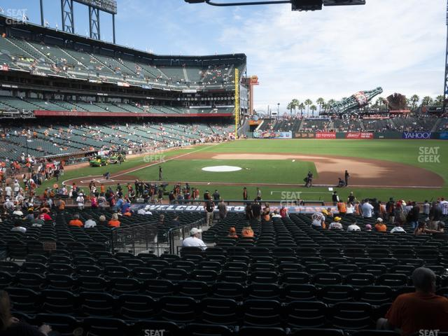 Oracle Park Section 108 view