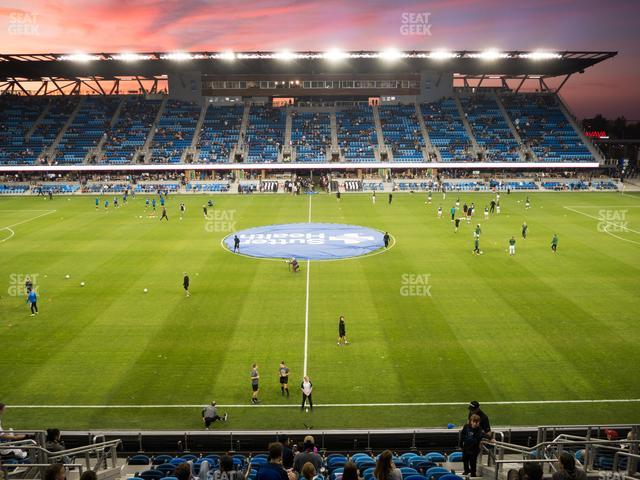 Earthquakes Stadium Section 129 view