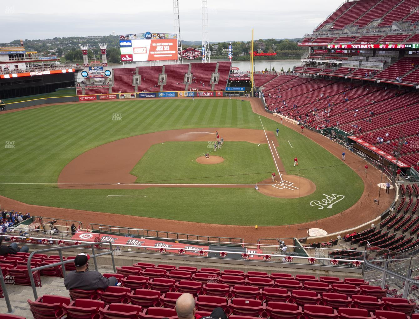 Cincinnati Reds at Great American Ball Park Section 419 View