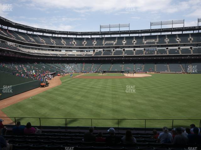 Globe Life Park Section 45 view