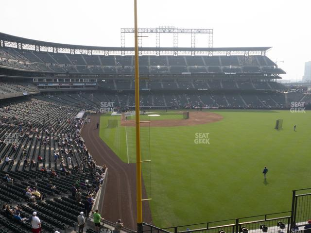 Coors Field Section 208 view